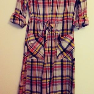 Buzz Bout long plaid  maxi dress